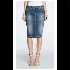 🔹 Rocco Barocco Midi  Denim skirt, Size 0
